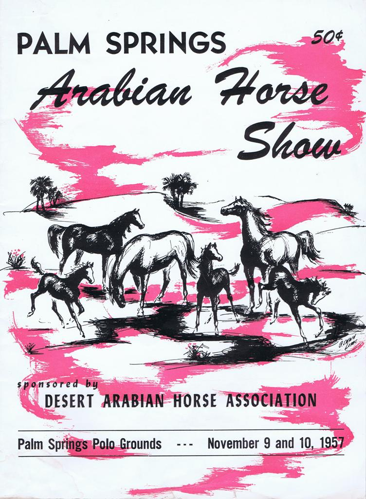 Cover for the 1957 Palm Springs Arabian Horse Show (1957)
