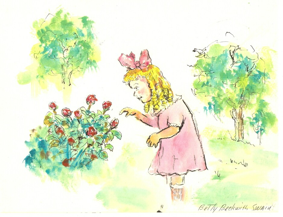 Betty Picks the Roses . . . .